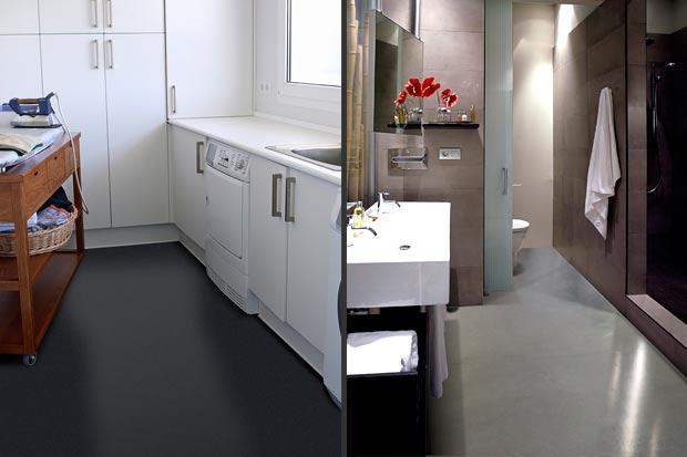 Béton ciré, Résine : cuisine, salle-de-bain, salon - Entreprise ...